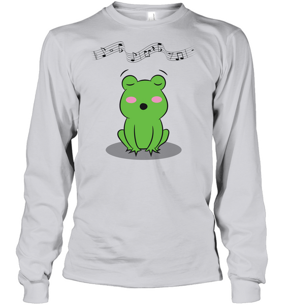 Singing Frog - Gildan Adult Classic Long Sleeve T-Shirt