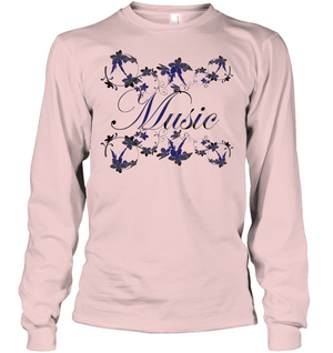 Music with Flowers - Gildan Adult Classic Long Sleeve T-Shirt