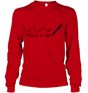Music is Life Note - Gildan Adult Classic Long Sleeve T-Shirt