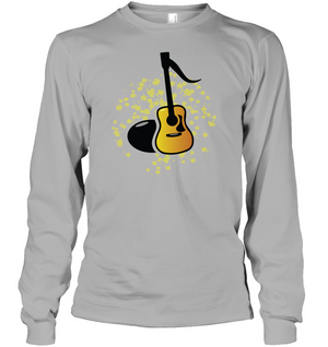 Acoustic Guitar Note - Gildan Adult Classic Long Sleeve T-Shirt