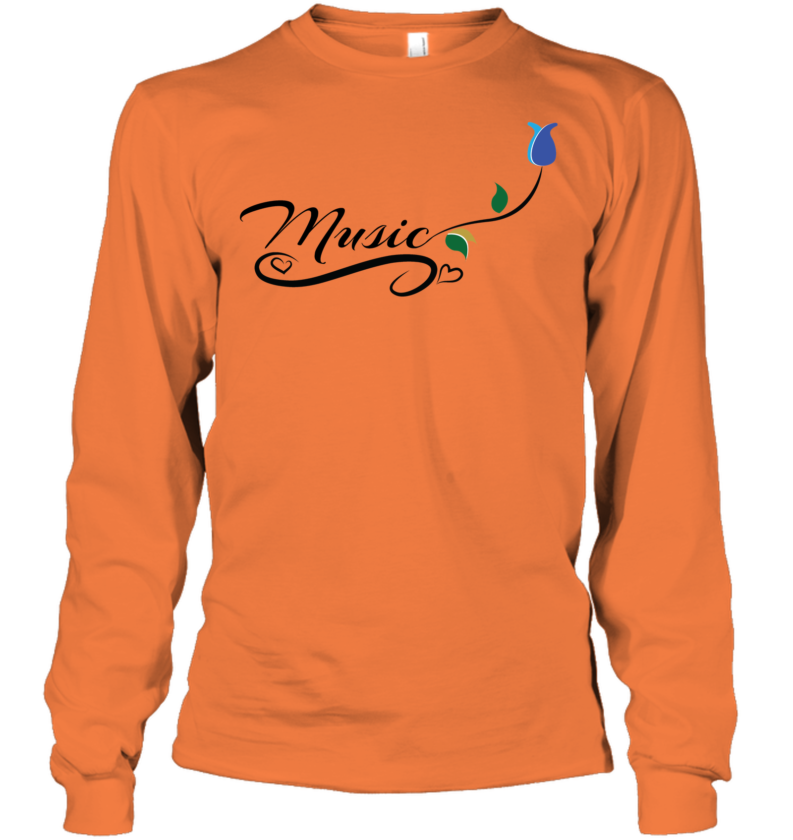 Music and Tulips - Gildan Adult Classic Long Sleeve T-Shirt