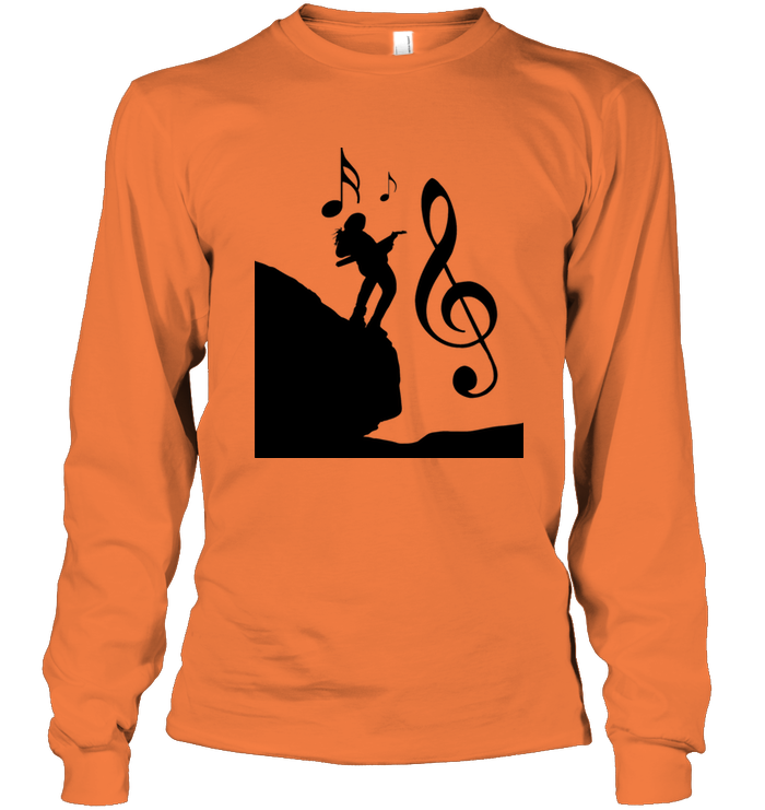 Playin Guitar on the Hill - Gildan Adult Classic Long Sleeve T-Shirt