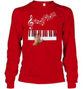 Playin the Keyboard - Gildan Adult Classic Long Sleeve T-Shirt
