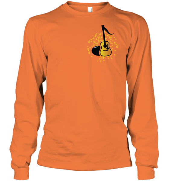 Acoustic Guitar Note (Pocket Size) - Gildan Adult Classic Long Sleeve T-Shirt