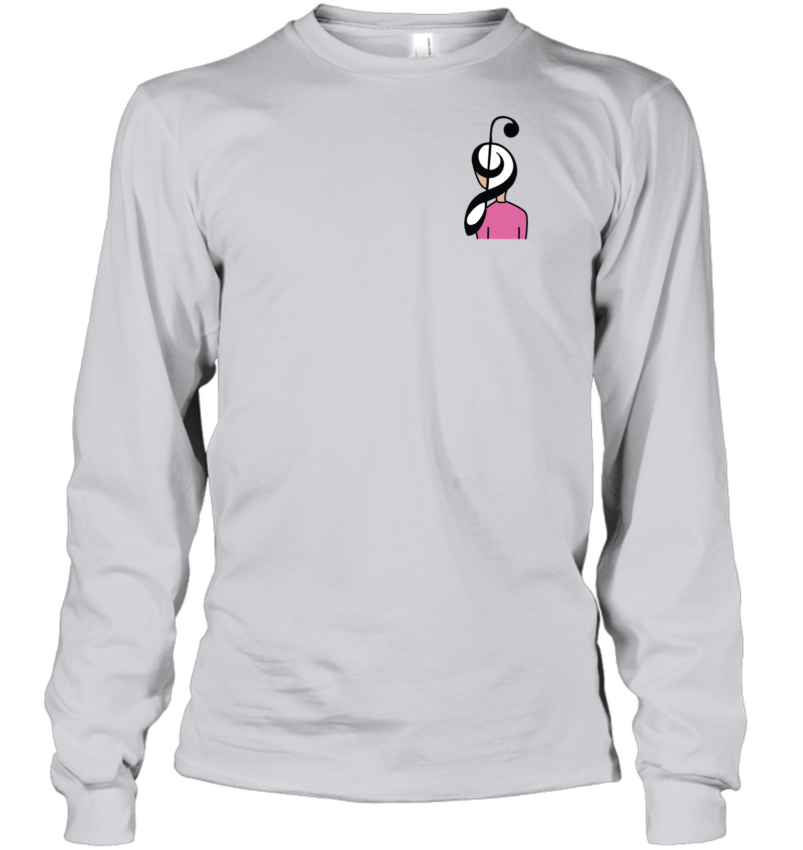 Musical Hairstyle (Pocket Size) - Gildan Adult Classic Long Sleeve T-Shirt