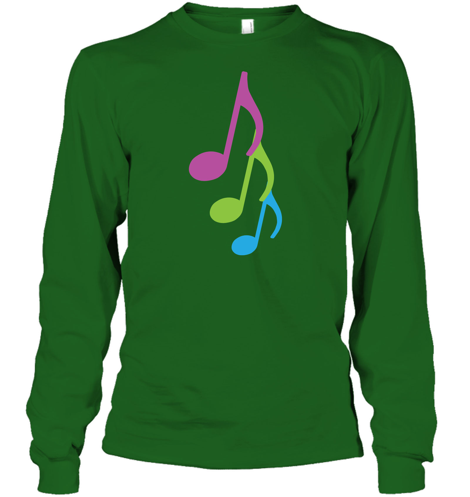 Three colorful musical notes - Gildan Adult Classic Long Sleeve T-Shirt