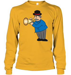 Man with Trumpet - Gildan Adult Classic Long Sleeve T-Shirt