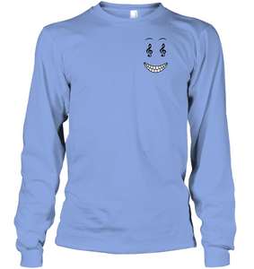 Happy Treble Face (Pocket Size) - Gildan Adult Classic Long Sleeve T-Shirt