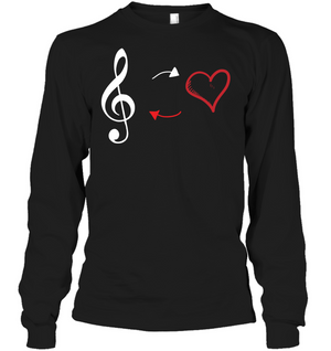 Treble Heart Duo - Gildan Adult Classic Long Sleeve T-Shirt