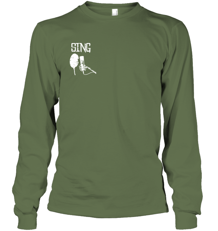 Sing (Pocket Size)  - Gildan Adult Classic Long Sleeve T-Shirt