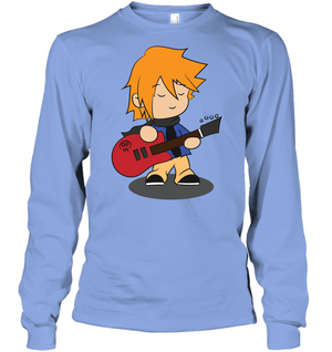 Boy with Guitar - Gildan Adult Classic Long Sleeve T-Shirt