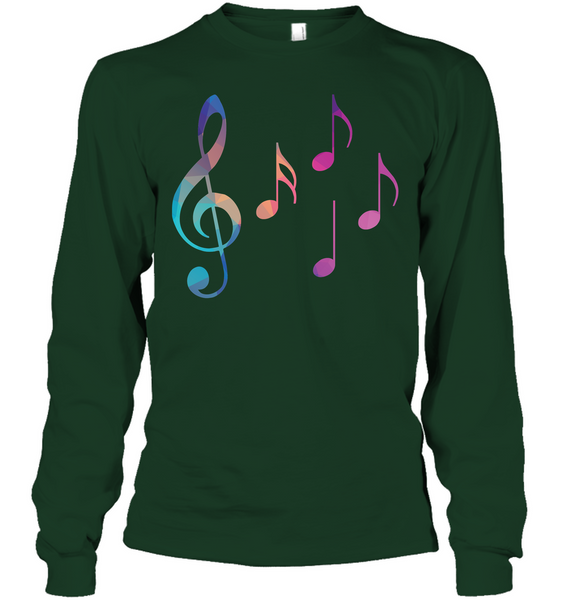 Colorful Notes - Gildan Adult Classic Long Sleeve T-Shirt