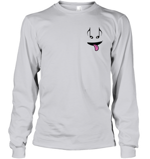 Silly Note Face (Pocket Size) - Gildan Adult Classic Long Sleeve T-Shirt