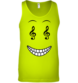 Happy Treble Face - Bella + Canvas Unisex Jersey Tank