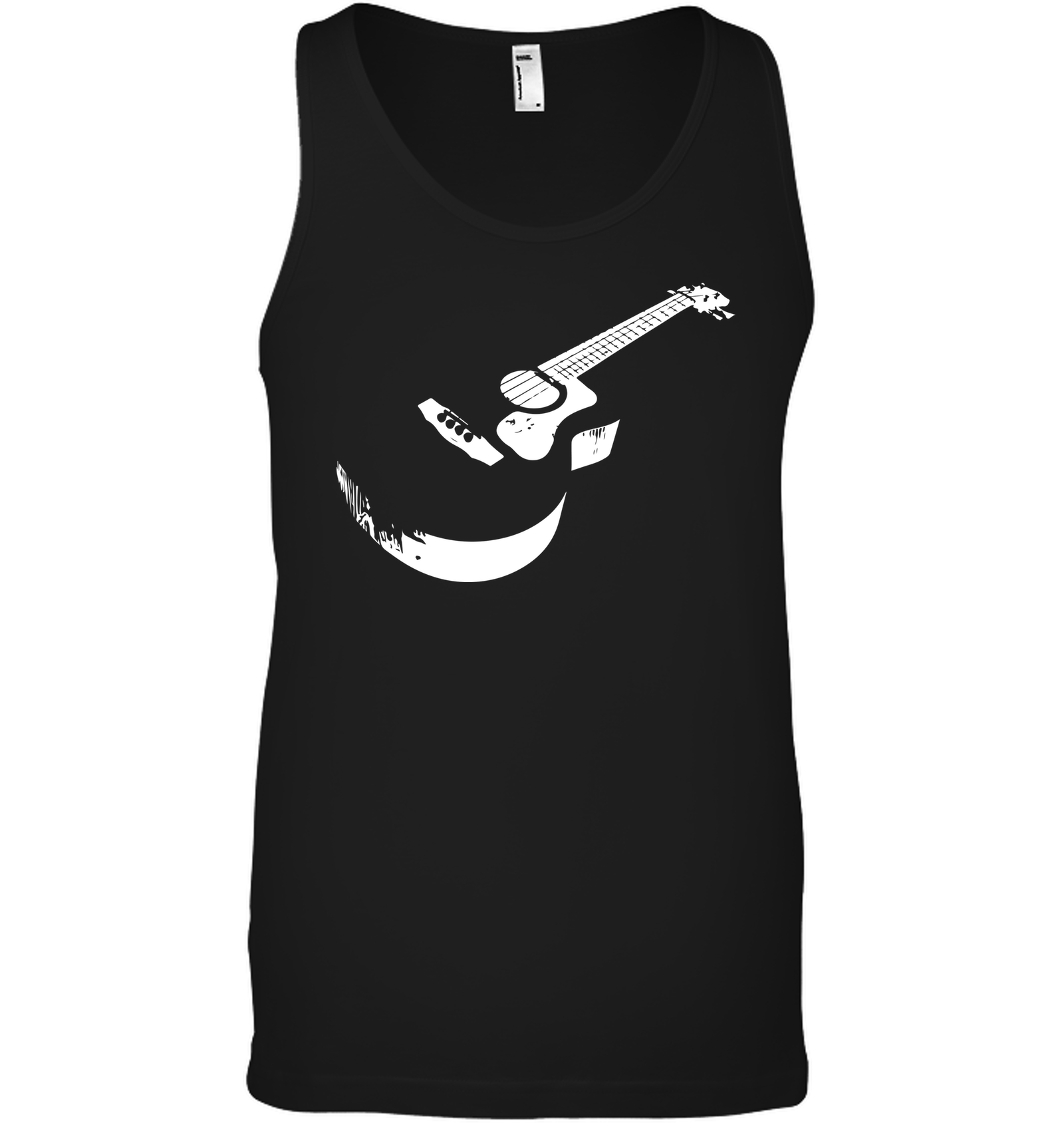 Cool white acoustic guitar - Bella + Canvas Unisex Jersey Tank