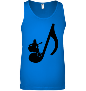 Sitting on a Note (Black) - Bella + Canvas Unisex Jersey Tank
