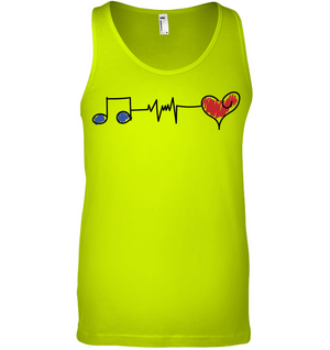 Musical Connections Blue - Bella + Canvas Unisex Jersey Tank