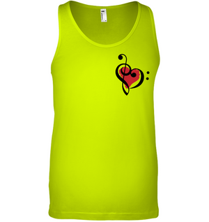 Treble Bass Red Heart (Pocket Size) - Bella + Canvas Unisex Jersey Tank