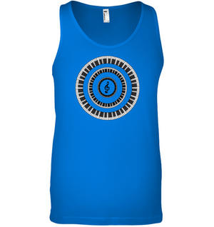 Piano Keys Circle - Bella + Canvas Unisex Jersey Tank