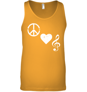 Peace Heart Musical Clef - Bella + Canvas Unisex Jersey Tank