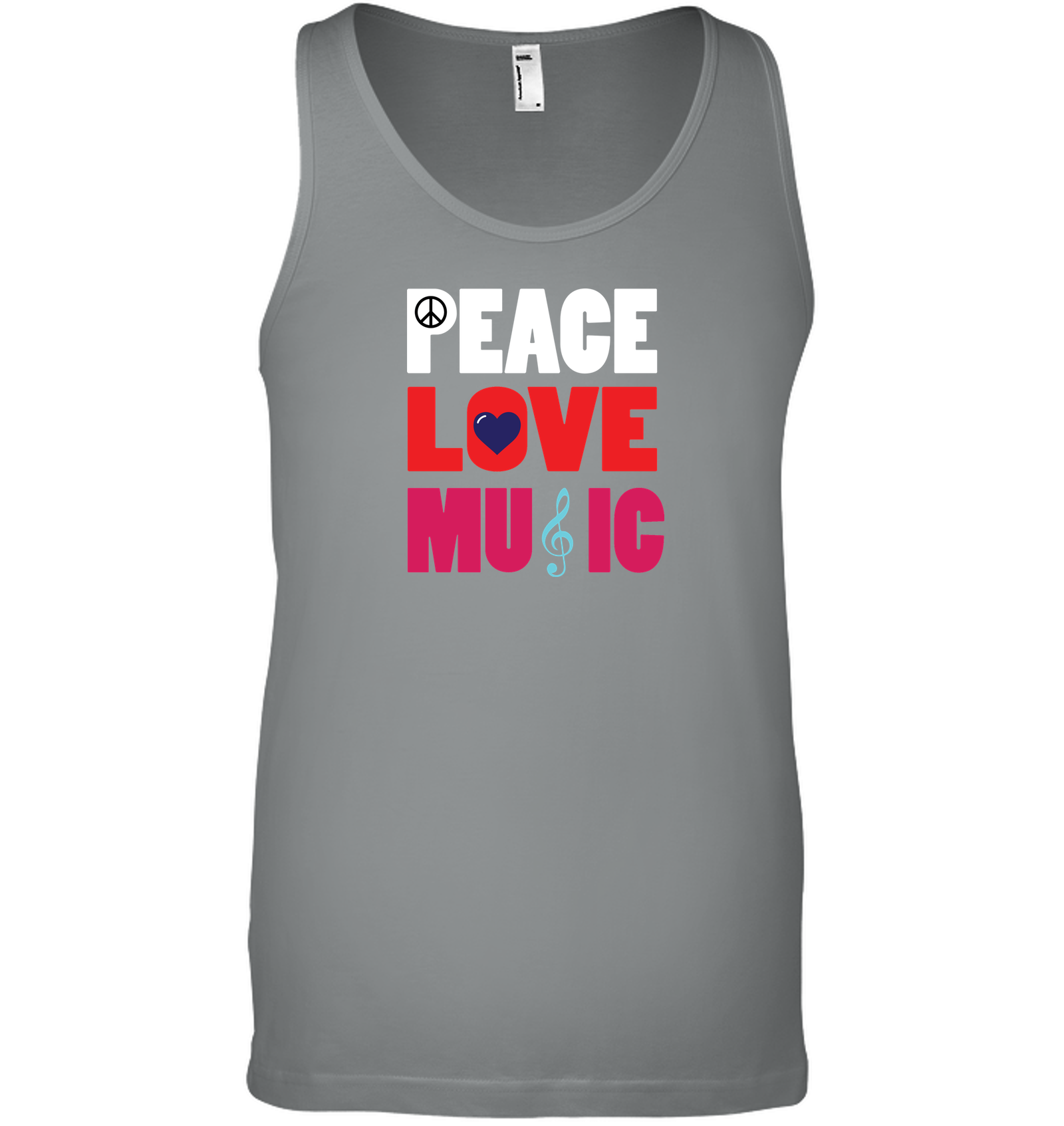 Peace Love Music - Bella + Canvas Unisex Jersey Tank