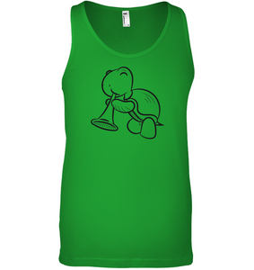 Turtle with Trumpet - Bella + Canvas Unisex Jersey Tank