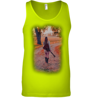 Walking with my Guitar - Bella + Canvas Unisex Jersey Tank
