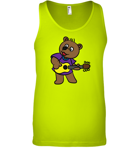 Bear Playing Guitar - Bella + Canvas Unisex Jersey Tank