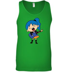 Girl Singin with Guitar - Bella + Canvas Unisex Jersey Tank