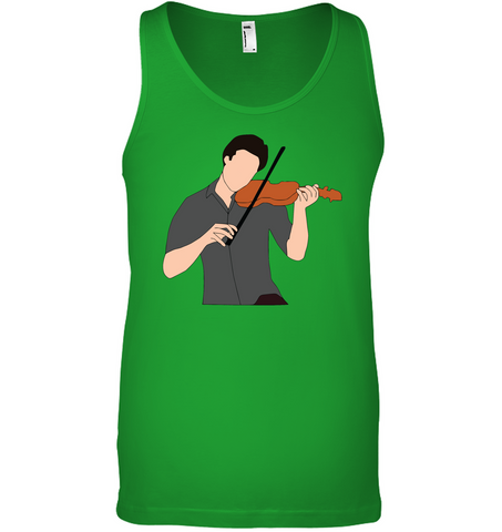 Guy Playin the Violin - Bella + Canvas Unisex Jersey Tank