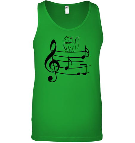 Kitty on a Staff - Bella + Canvas Unisex Jersey Tank