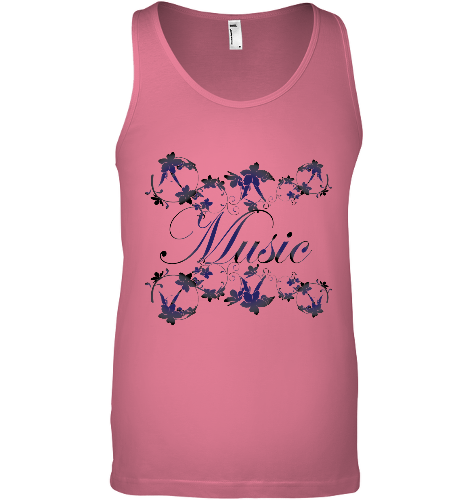 Music with Flowers - Bella + Canvas Unisex Jersey Tank