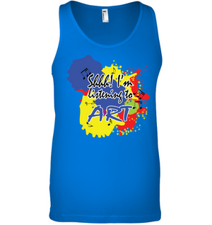 Shhh I'm Listening to Art - Bella + Canvas Unisex Jersey Tank