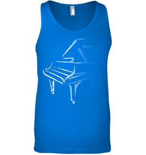 White Piano in the Shadows - Bella + Canvas Unisex Jersey Tank