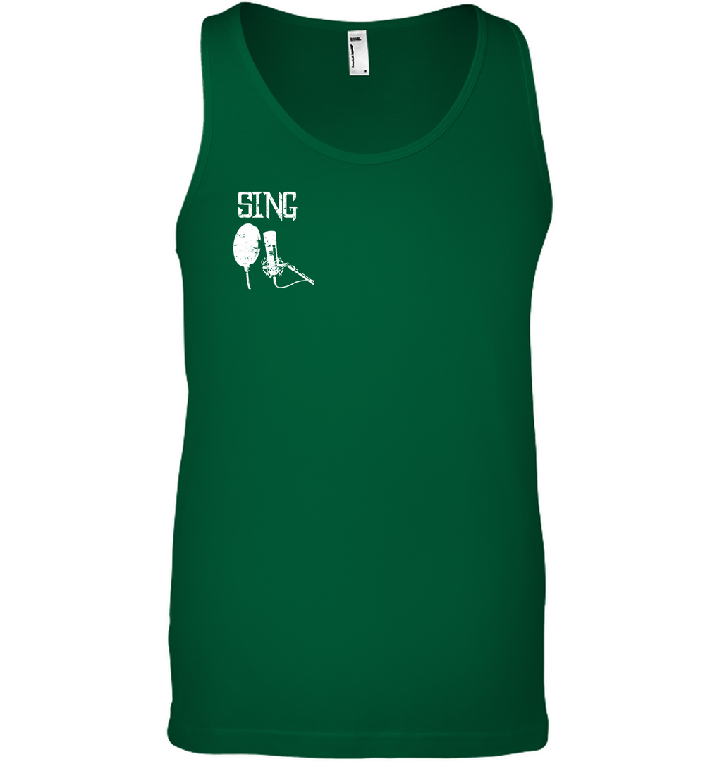 Sing (Pocket Size)  - Bella + Canvas Unisex Jersey Tank