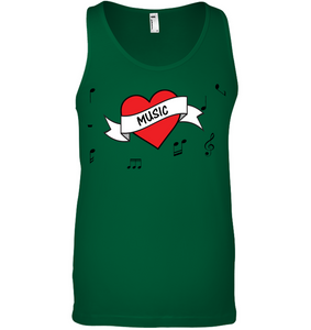 Musical Heart  - Bella + Canvas Unisex Jersey Tank