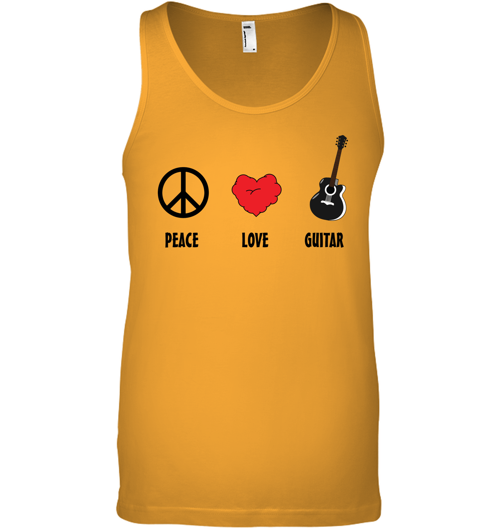 Peace Love Guitar - Bella + Canvas Unisex Jersey Tank