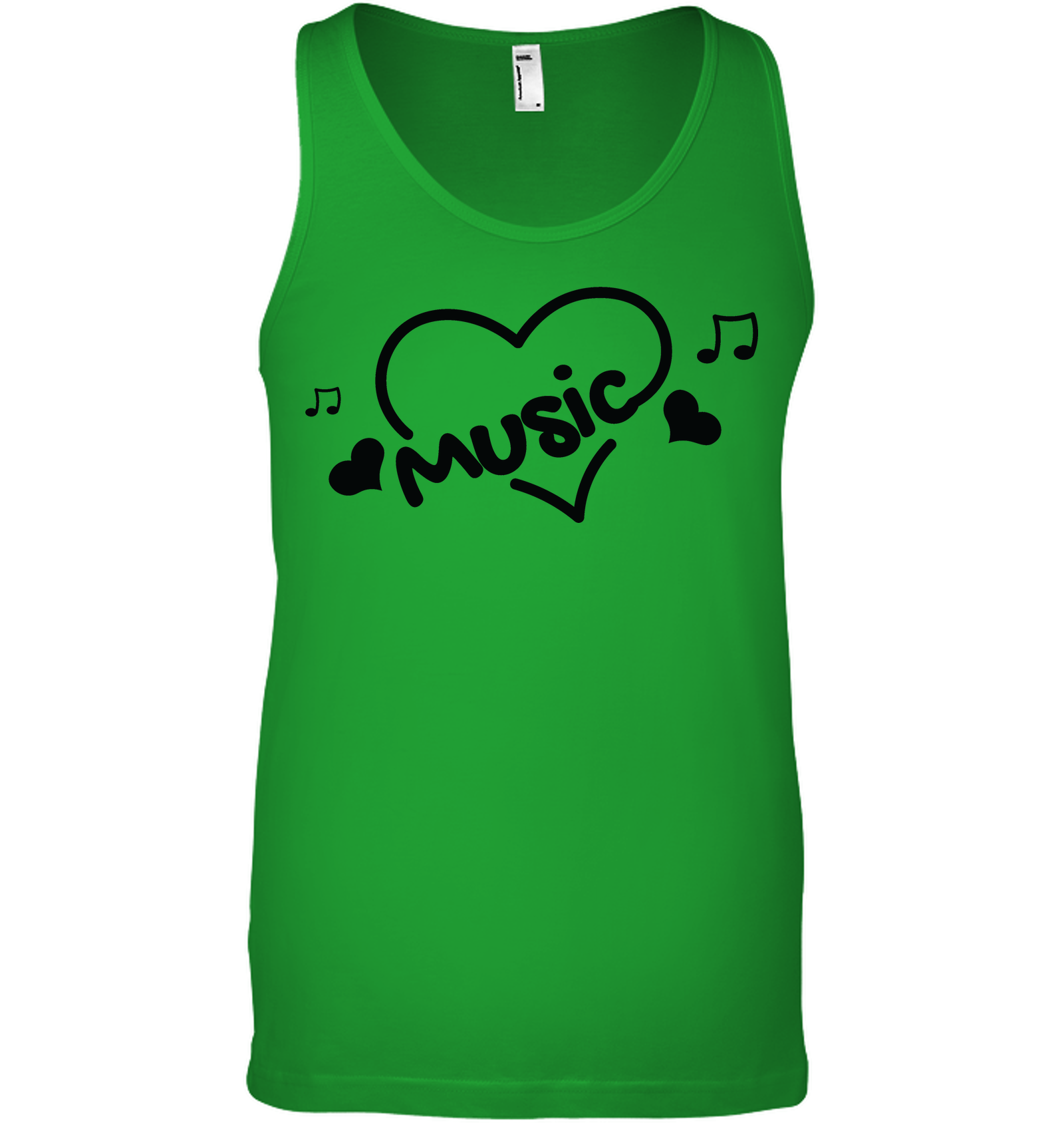 Music Hearts and Notes - Bella + Canvas Unisex Jersey Tank