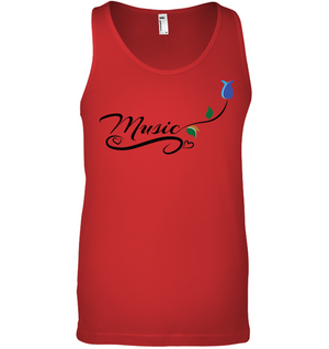 Music and Tulips - Bella + Canvas Unisex Jersey Tank