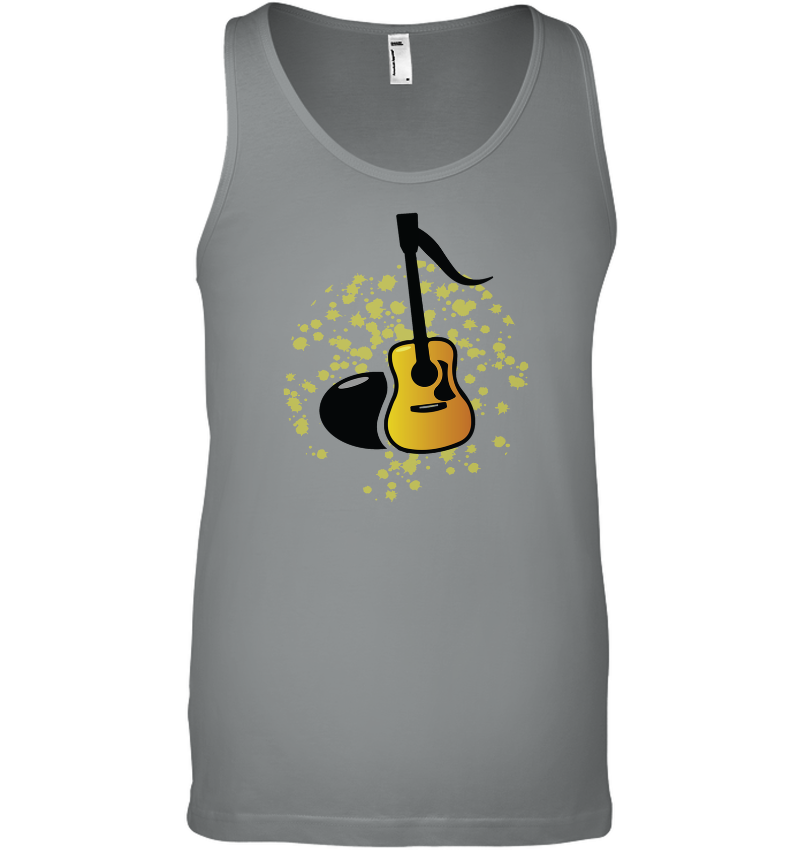 Acoustic Guitar Note - Bella + Canvas Unisex Jersey Tank