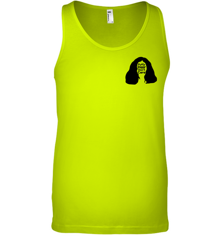 Puffy Hair Don't Care, Sophie (Pocket Size) - Bella + Canvas Unisex Jersey Tank