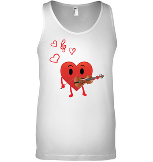 Heart Playing Violin - Bella + Canvas Unisex Jersey Tank