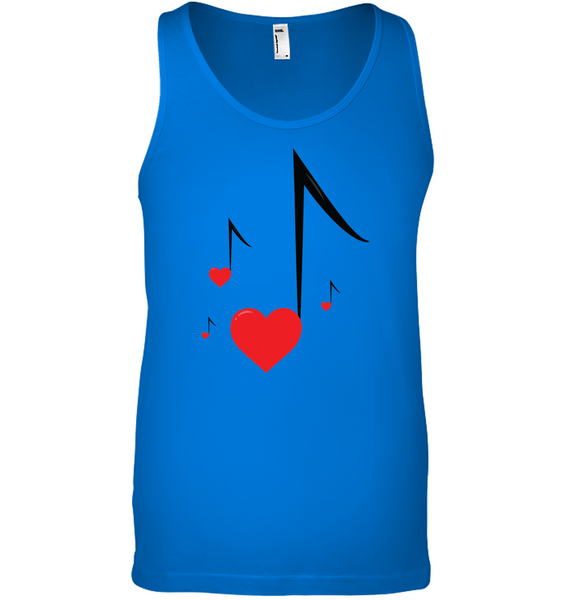 Four Floating Heart Notes  - Bella + Canvas Unisex Jersey Tank