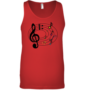 Musical Notes Spiral - Bella + Canvas Unisex Jersey Tank