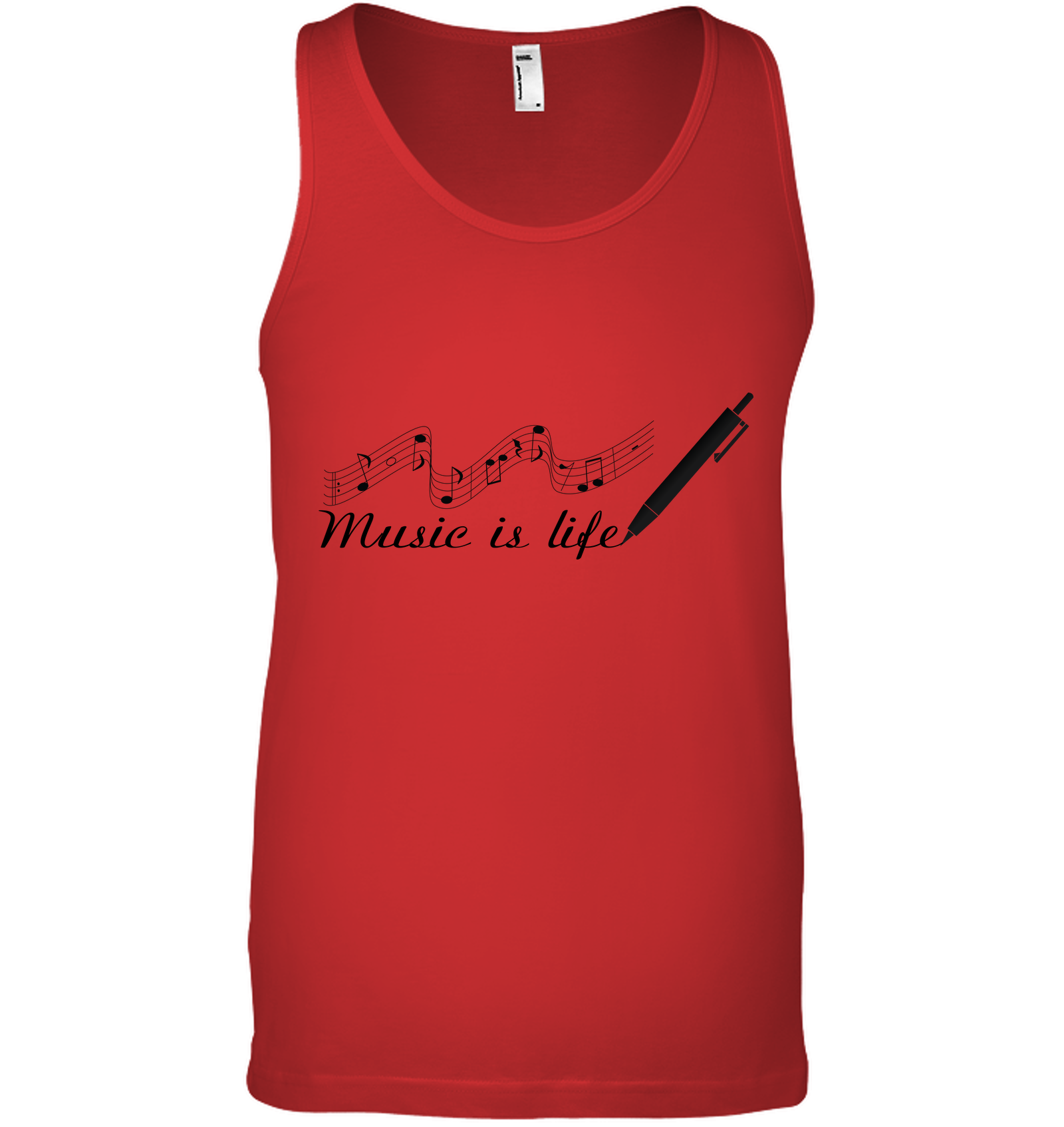 Music is Life Note - Bella + Canvas Unisex Jersey Tank