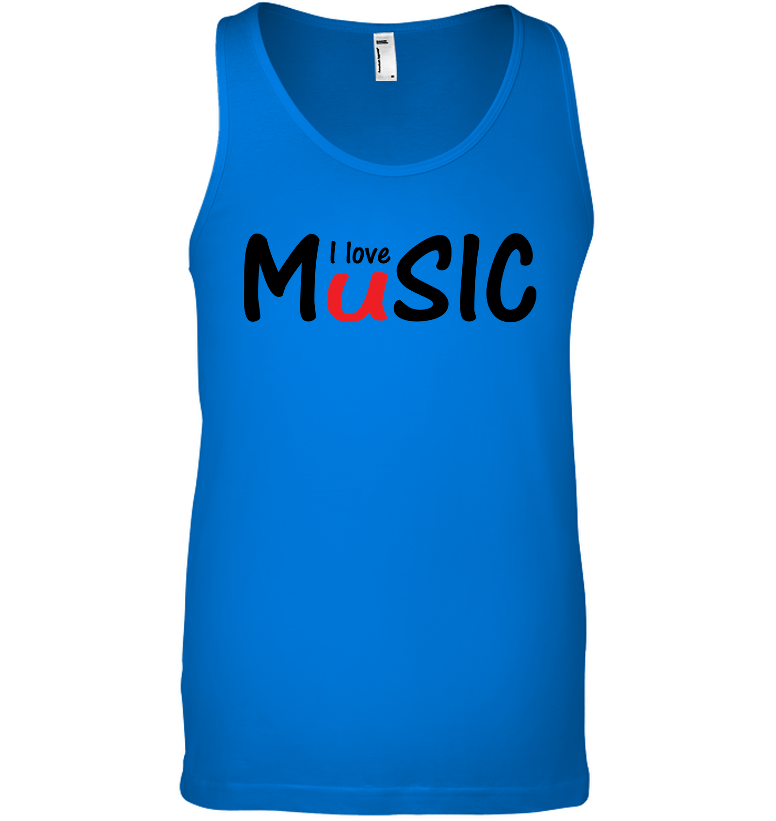 I Love Music plain and simple - Bella + Canvas Unisex Jersey Tank