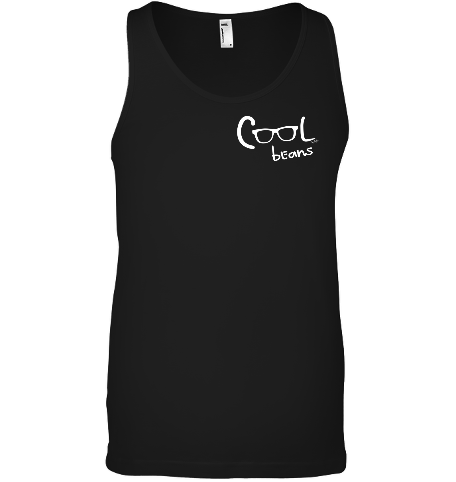 Cool Beans - White (Pocket Size) - Bella + Canvas Unisex Jersey Tank
