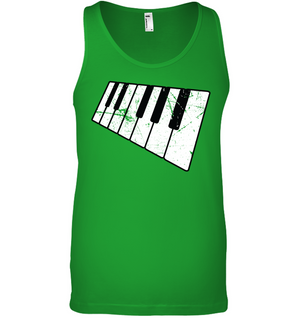 Floating Piano Keyboard - Bella + Canvas Unisex Jersey Tank