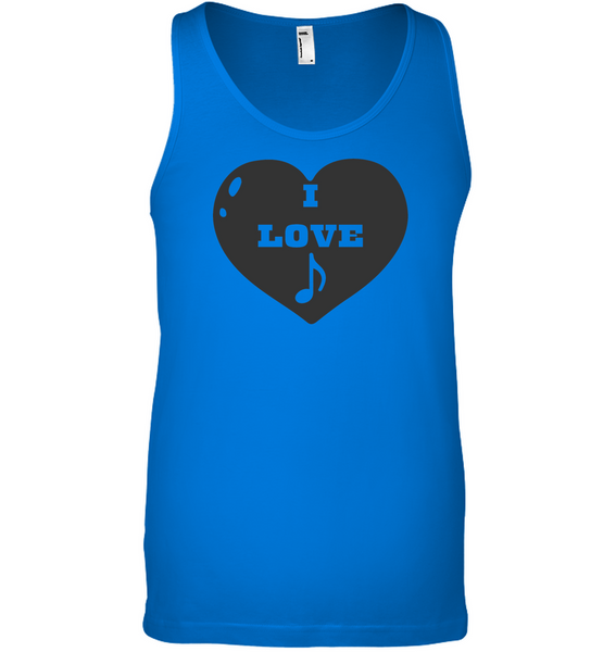 I Love Note Heart - Bella + Canvas Unisex Jersey Tank