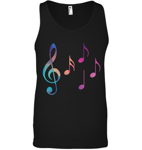 Colorful Notes - Bella + Canvas Unisex Jersey Tank